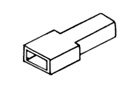 izolační kryt objímky 6,3 mm, 100 ks