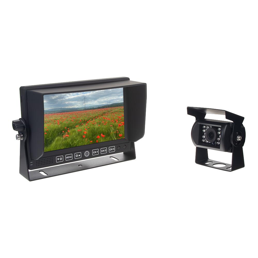 "AHD kamerový set s monitorem 7"", 3x 4PIN + kamera + 15m kabel"