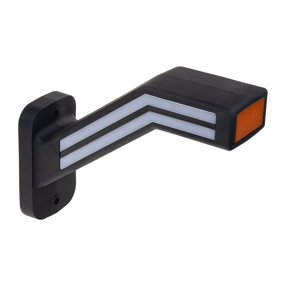 Poziční LED (tykadlo) gumové levé - červeno/bílo/oranžové, 12-24V,ECE