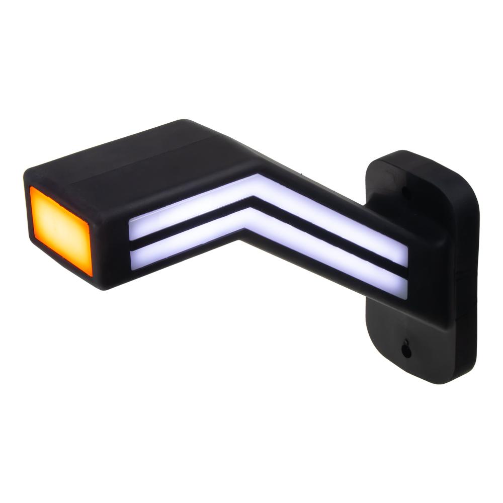 Poziční LED (tykadlo) gumové pravé - červeno/bílo/oranžové, 12-24V,ECE