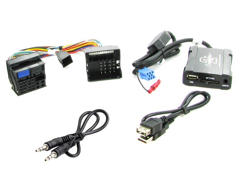 Connects2 - ovládání USB zařízení OEM rádiem Renault Megane 2008-/AUX vstup