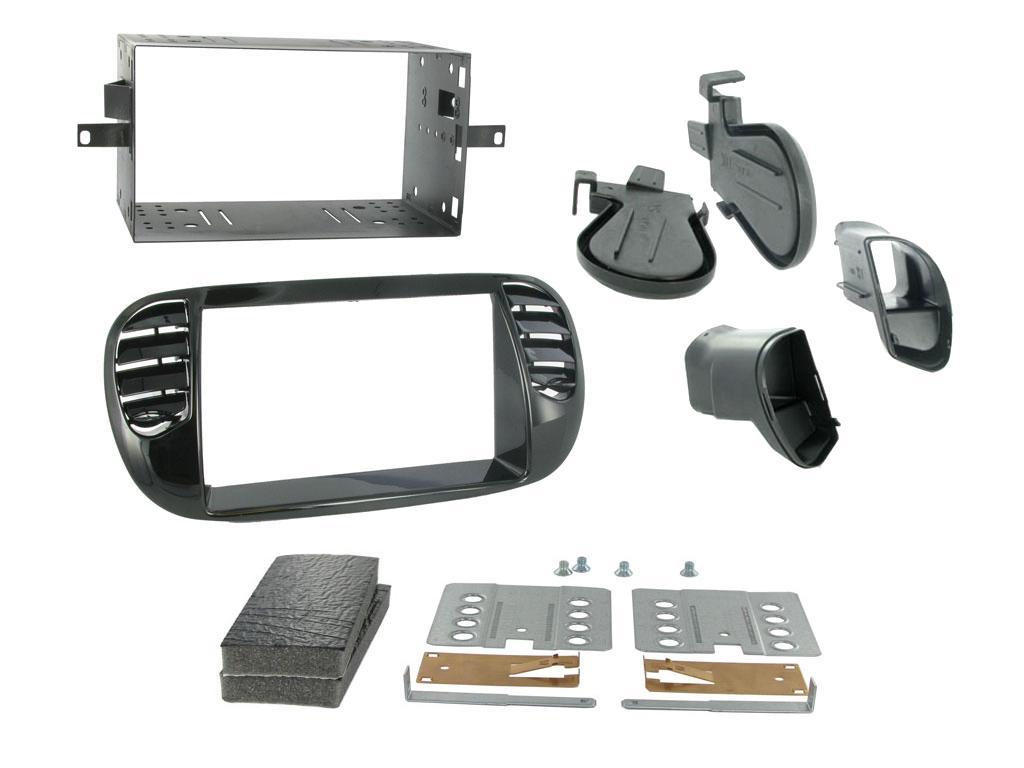 2DIN redukce pro Fiat 500 10/2007- černá lesklá