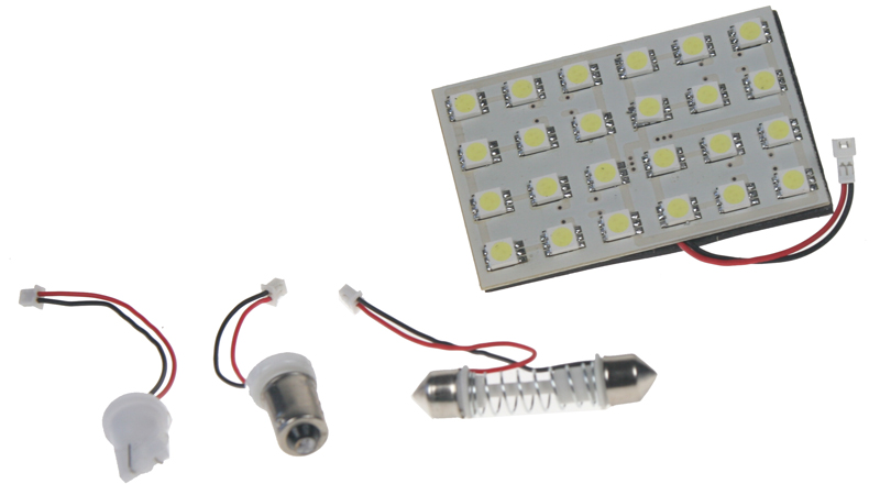LED panel 65x43 mm 12V, 24LED/3SMD