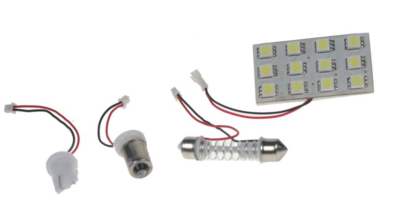 LED panel 45x25 mm 12V, 12LED/3SMD