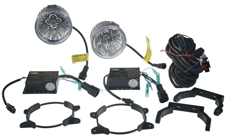 x LED světla pro denní svícení, kulatá 92mm, ECE