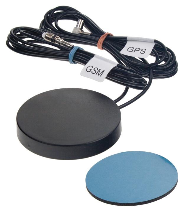 Vnitřní GSM + GPS anténa nalepovací kulatá - GSM s SMA samec