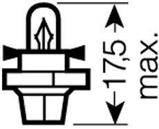 OSRAM 12V BX8,4d 1,2W standard (10ks)