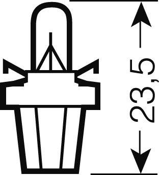 OSRAM 12V BX8,5d 1,2W standard (10ks)