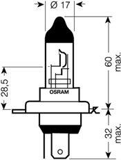 OSRAM 12V H4 60/55W standard (1ks)
