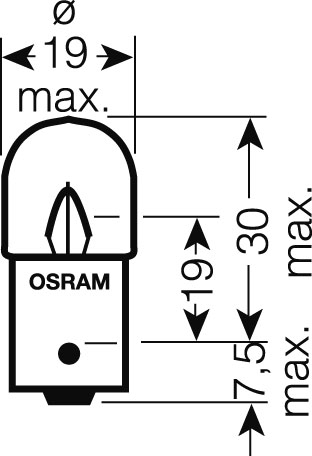 OSRAM 24V R10W (BA15s) 10W standard (10ks)