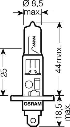 OSRAM 24V H1 70W standard (1ks)