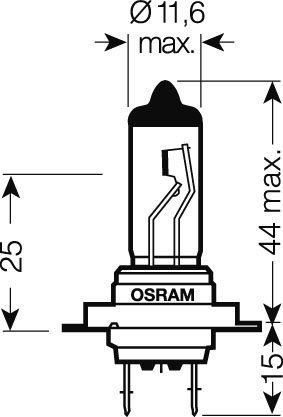 OSRAM 24V H7 70W standard (1ks)