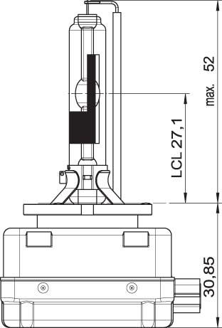x OSRAM 12V D3R 35W xenarc (1ks)
