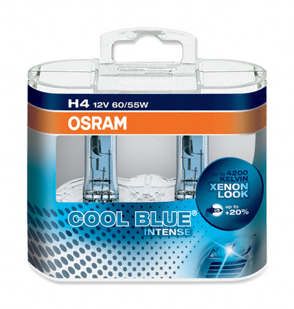 OSRAM 12V H4 60/55W cool blue intense (2ks) Duo-box