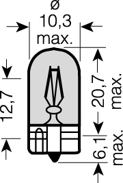 x OSRAM 12V WY5W (W2,1x9,5d) 5W standard (10ks) oranžová