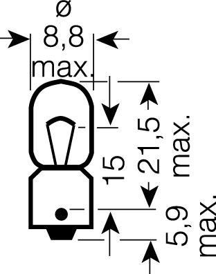 OSRAM 12V T4W (BA9s) 4W standard (10ks)