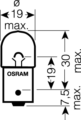 OSRAM 12V R5W (BA15s) 5W standard (10ks)