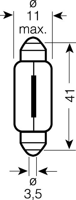 OSRAM 12V C10W (SV8,5-8) 10W standard (10ks)