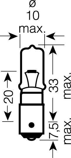 OSRAM 12V H21W BAY9s 21W standard (1ks)