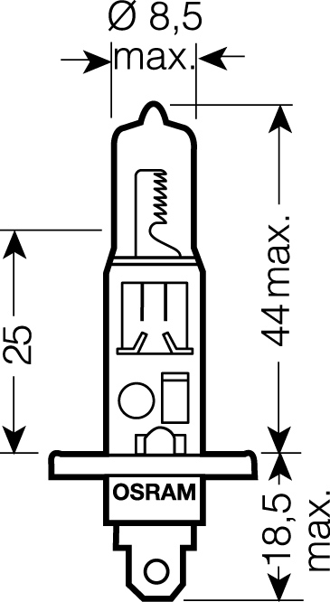OSRAM 12V H1 55W standard (1ks)