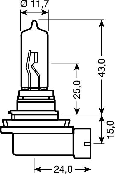 OSRAM 12V H9 65W standard (1ks)