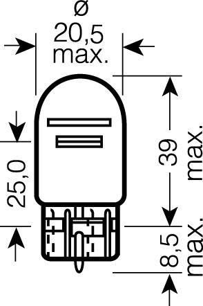 OSRAM 12V W21/5W (W3x16q) 21/5W standard (1ks)
