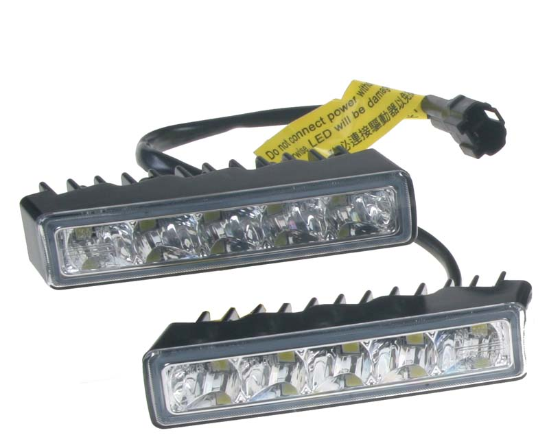 LED světla pro denní svícení, 100x24mm, ECE