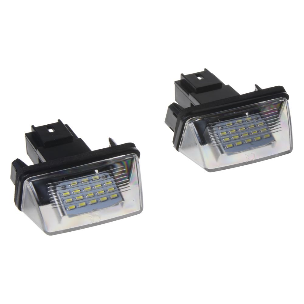 LED osvětlení SPZ do vozu Peugeot a Citroen