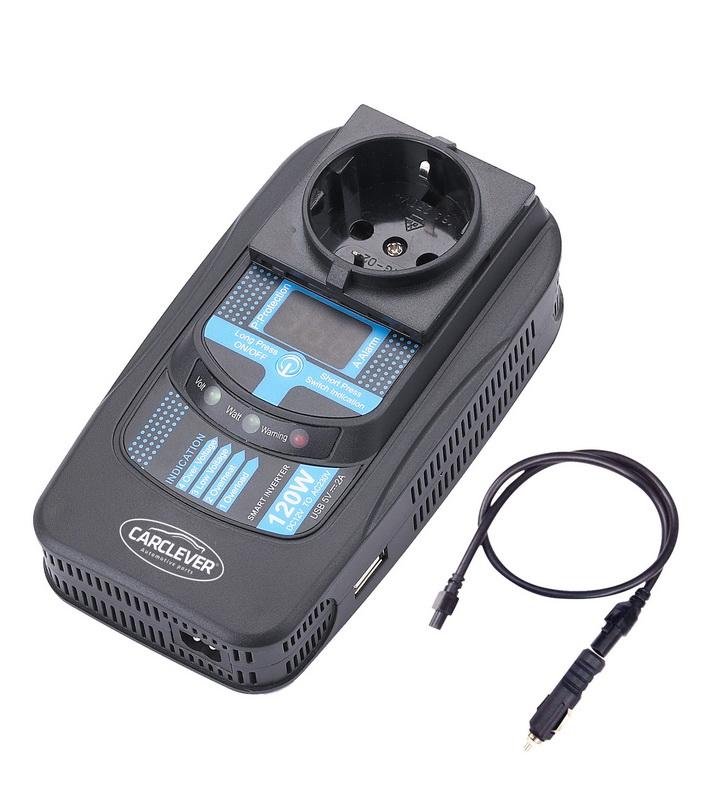 Měnič napětí z 12/220V + USB 120W/displej
