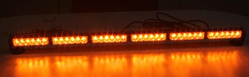 LED světelná alej, 36x 1W LED, oranžová 950mm, ECE R10