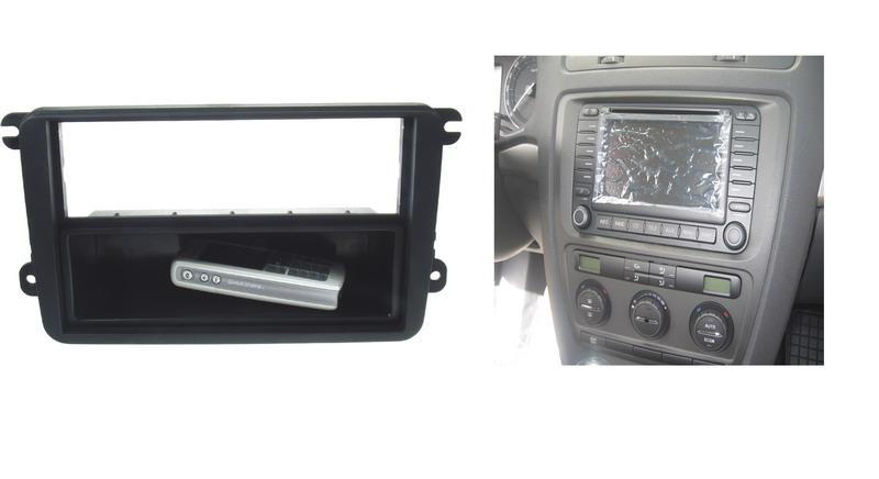 ISO redukce pro Škoda Octavia II, VW Touran, Golf5, Roomster (jen2DIN), Passat B7, Caddy