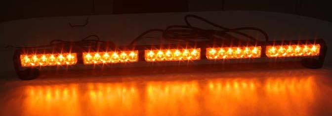 LED světelná alej, 30x 1W LED, oranžová 800mm, ECE R10