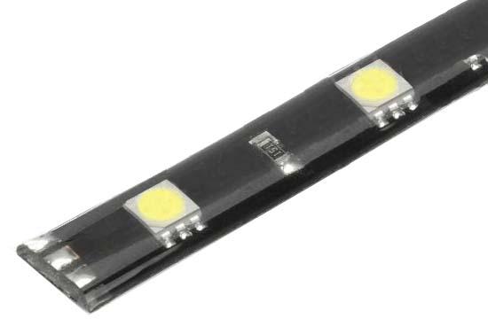 LED pásek s 12LED/3SMD bílý 12V, 30cm