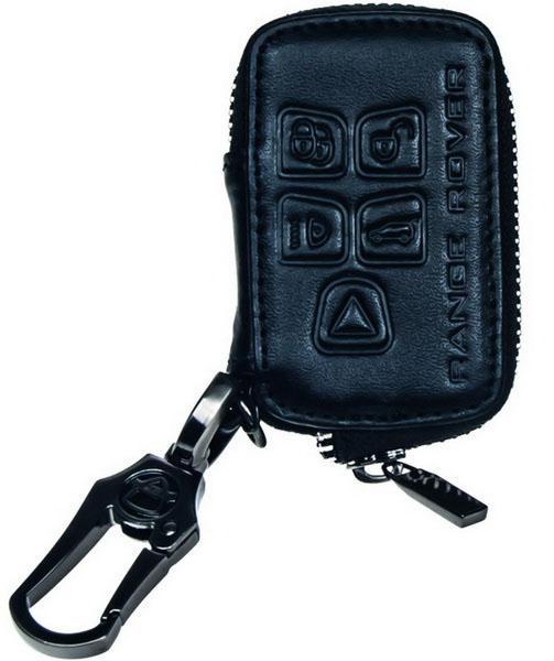 x Kožený obal se zipem černý pro klíč Land Rover - Range Rover