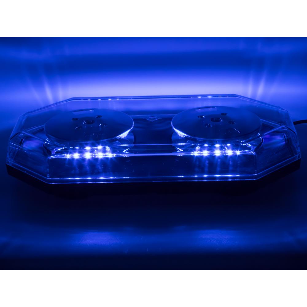 LED rampa 388mm, modrá, magnet, 12-24V, homologace ECE R65