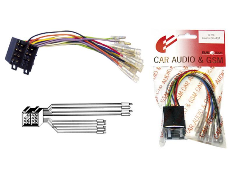 Konektor ISO - ASIA Škoda, Fiat, Opel...