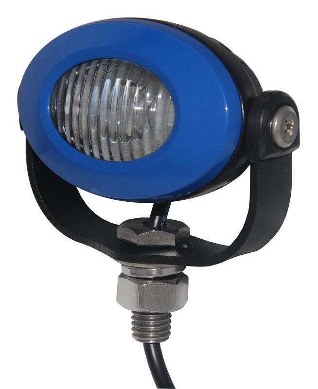PROFI LED výstražné světlo 12-24V 3x3W modrý ECE R10 92x65mm