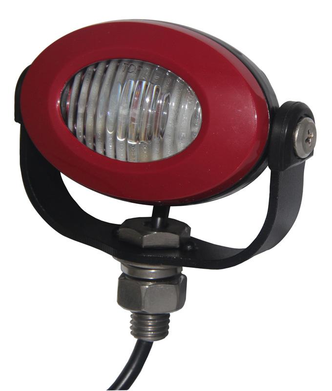 PROFI LED výstražné světlo 12-24V 3x3W červený ECE R10 92x65mm