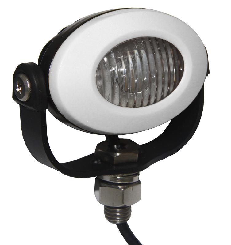 PROFI LED výstražné světlo 12-24V 3x3W bílý ECE R10 92x65mm