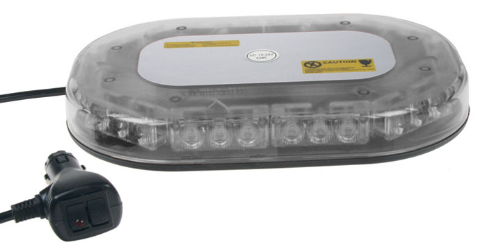 SLIM rampa oranžová, 30LEDx3W, magnet, 12-24V, 250mm, ECE R65/R10