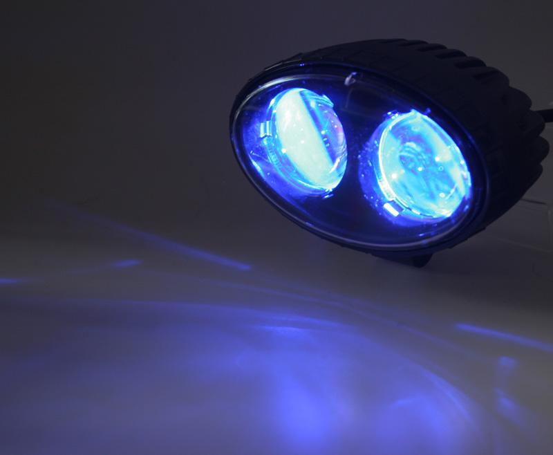 PROFI LED výstražné bodové světlo 10-48V 2x4W modré 143x122mm, ECE R10