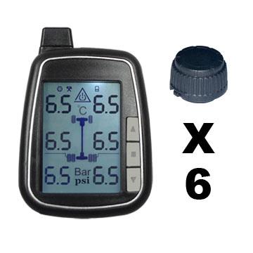 TPMS kontrola tlaku v pneumatice 6 externích čidel