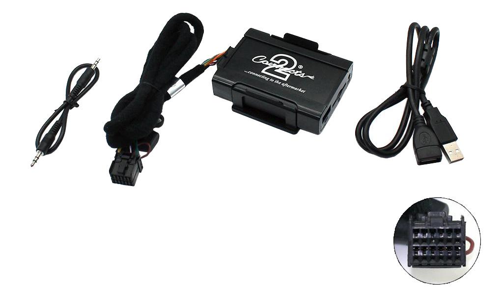 Connects2 - ovládání USB zařízení OEM rádiem Ford 5000, 6000, Jaguar