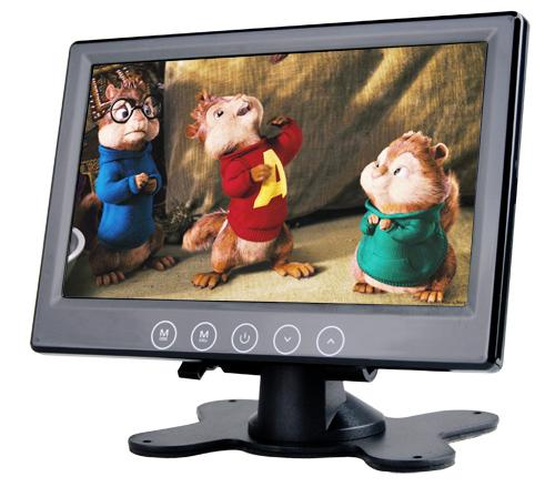 """LCD monitor 7"""" černý na palubní desku"""