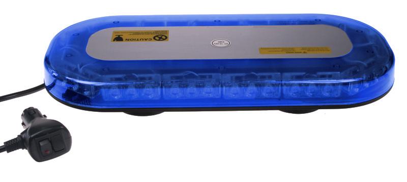 SLIM rampa modrá, 42LEDx3W, magnet, 12-24V, 365mm, ECE R10