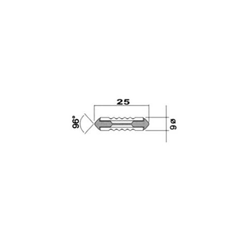 Plastová pojistka torpédo 10A, 10 ks
