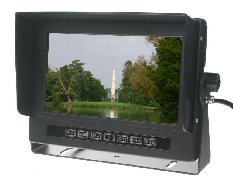"""Monitor 7"""" prachotěsný/voděodolný/nárazu odolný, 3x4PIN vstup"""