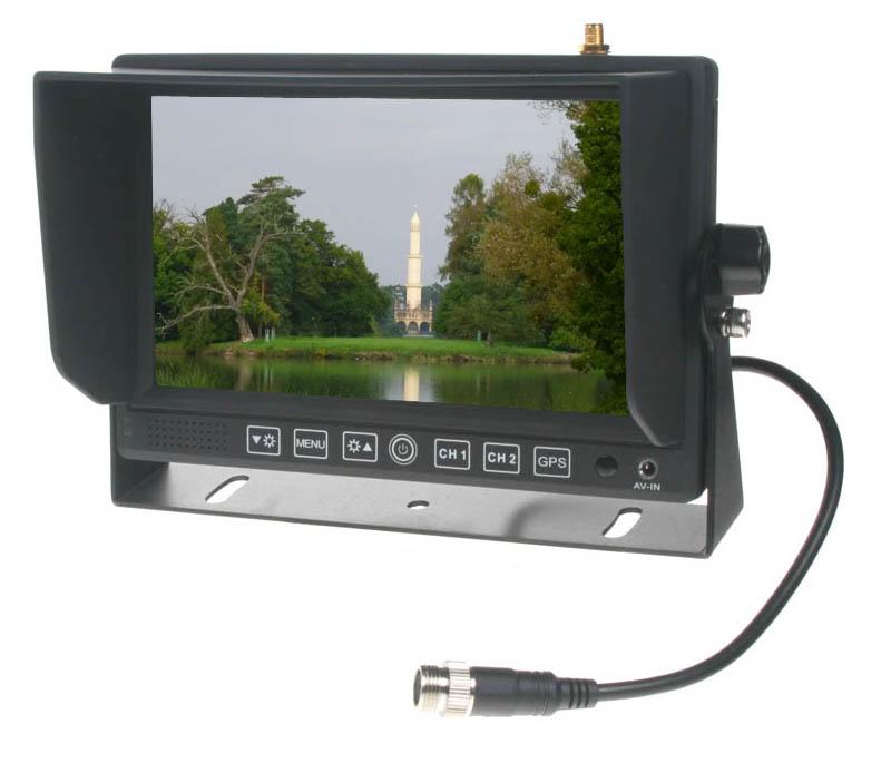 """Monitor 7"""" se 2x4PIN vstup,čelním AV, GPS"""