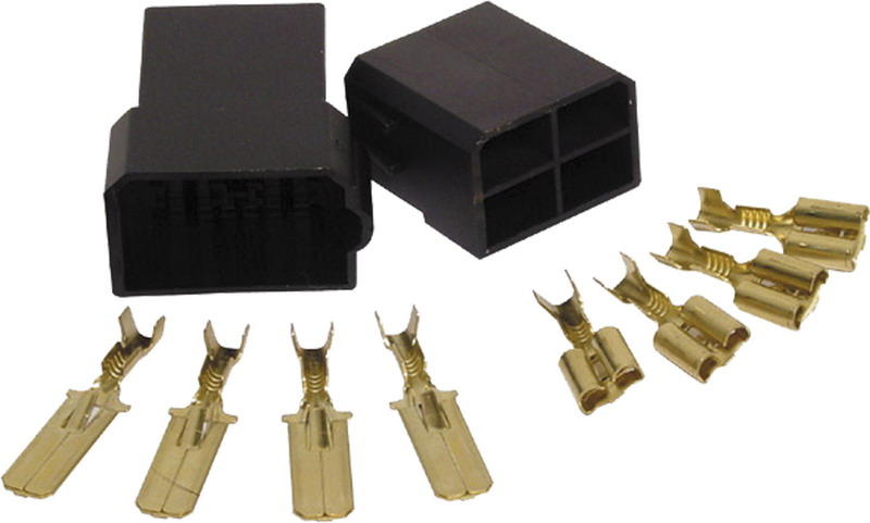 Plastová zásuvka 4-pólový sameček + 4-pólová samička + 8 konektorů