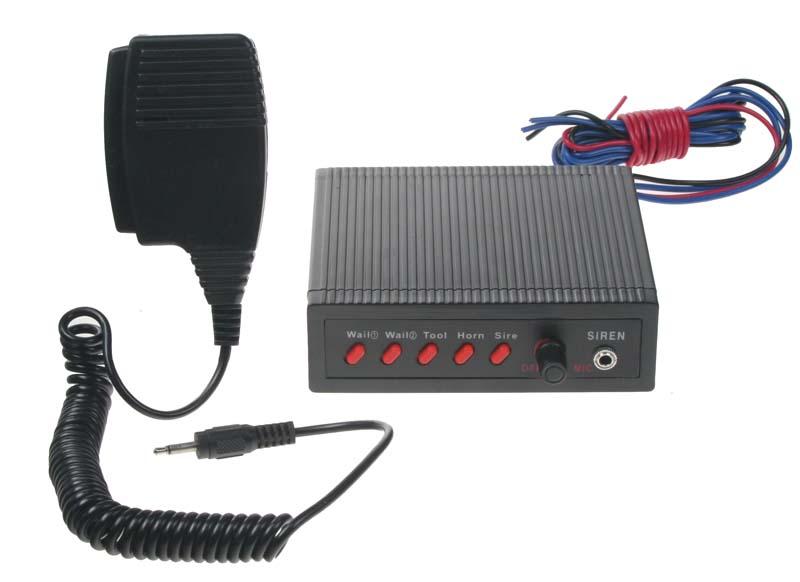 Hobby výstražný systém se 5 přednastavenými tóny, 100W
